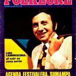 Tapa de Revista Folklore Nº 239